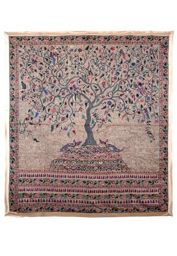 Cream tussar, Tree of Life