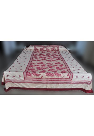 Bed Cover - Lotus Butta
