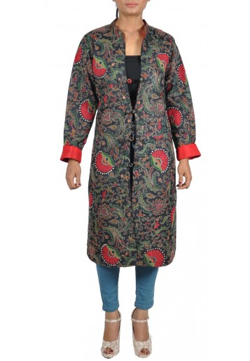 Reversible, Multicoloured Kantha Embroidered Jacket