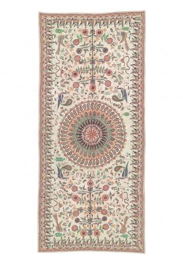 Cream Tussar Old folk motif